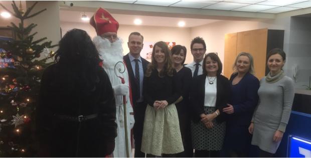Nikolaus zu Besuch in Dinkelscherben